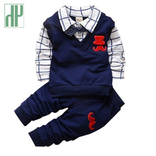 2019 kids dresses for boys Children Clothing Set Autumn toddler Boy Outfit Sports Suit 1-4T Babys Girls
