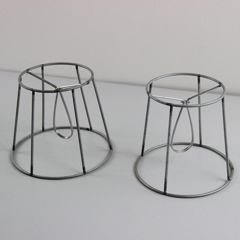 6 STÜCKE Dia13cm, 12 cm Eisen Lampenschirm Rahmen DIY, Clip auf in 6 ...