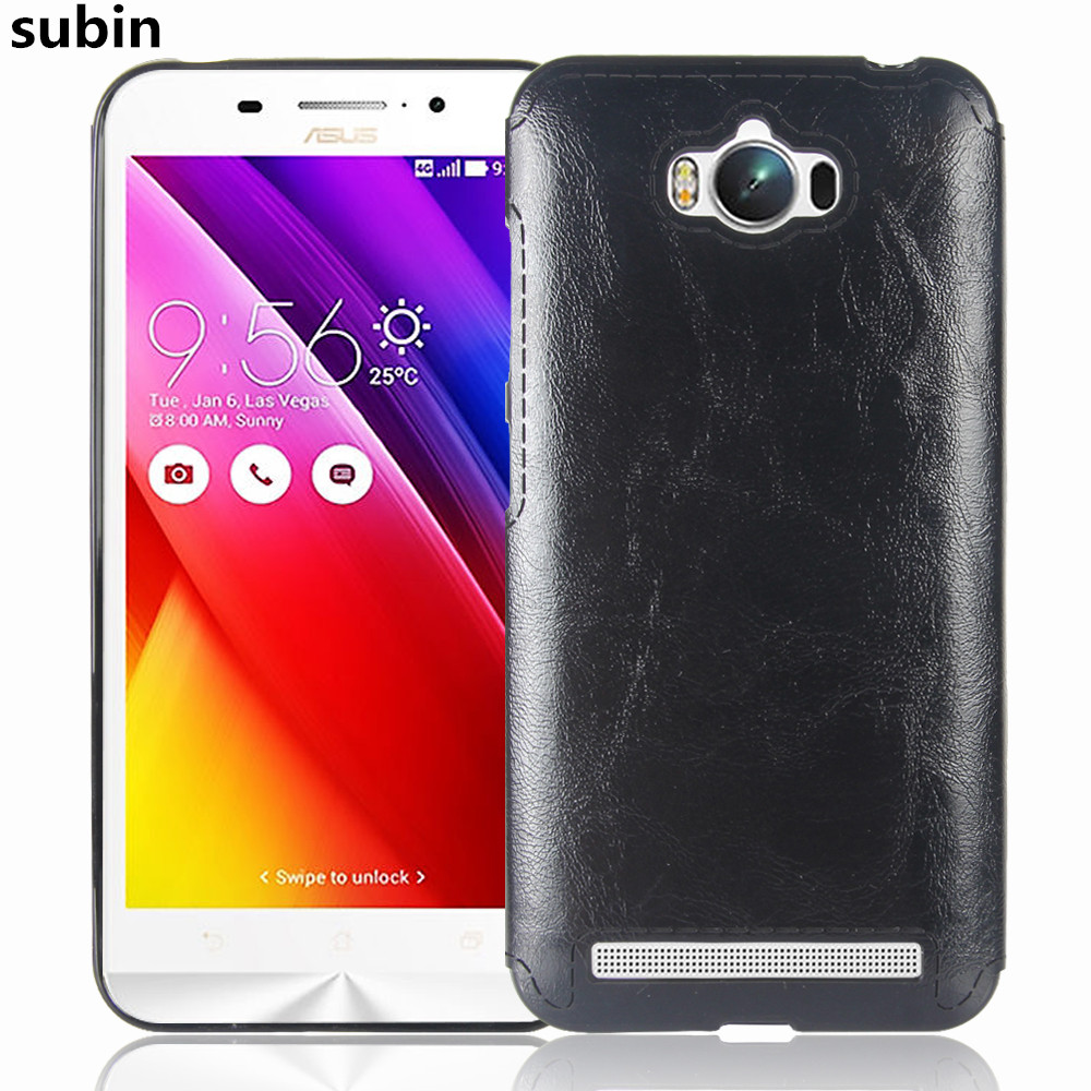 <font><b>Asus</b></font> Zenfone Max ZC550KL Case 5.5inch Soft TPU+PU Leather Paste skin Silicone Cover For <font><b>ASUS</b></font>_<font><b>Z010DD</b></font> Z010DA ZC550KL Phone Cases image