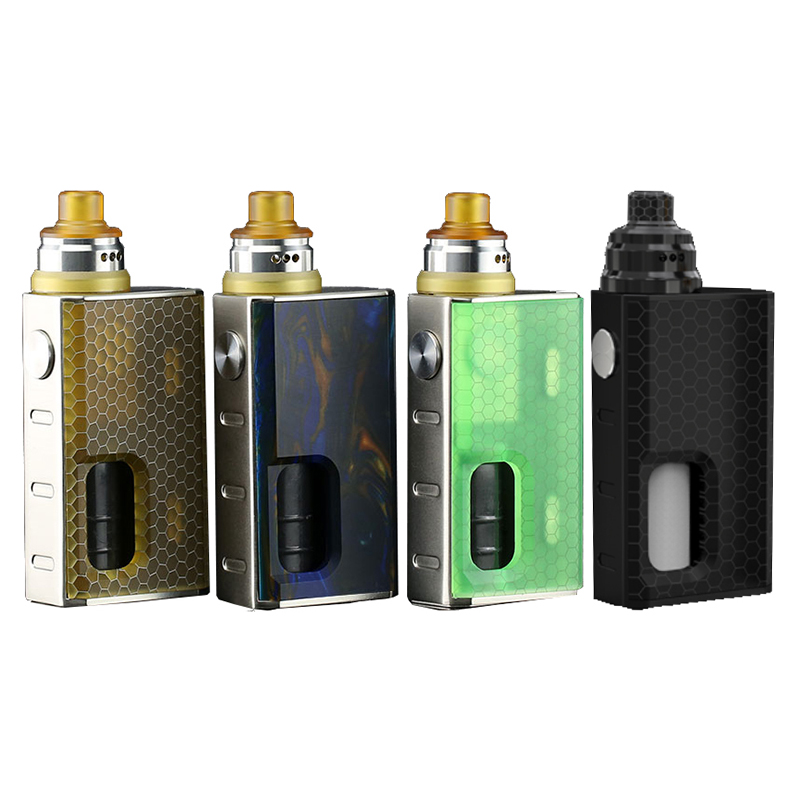 Wismec LUXOTIC BF Box Kit with Tobhino BF RDA 7.5ml Bottle 100W Vape Mod with Clapton Coil Fits 18650 Battery E Cig 001