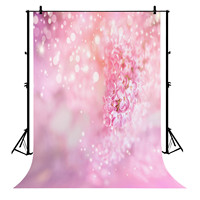 5x7ft Pink Floral Polyester Photo Background Portrait Backdrop