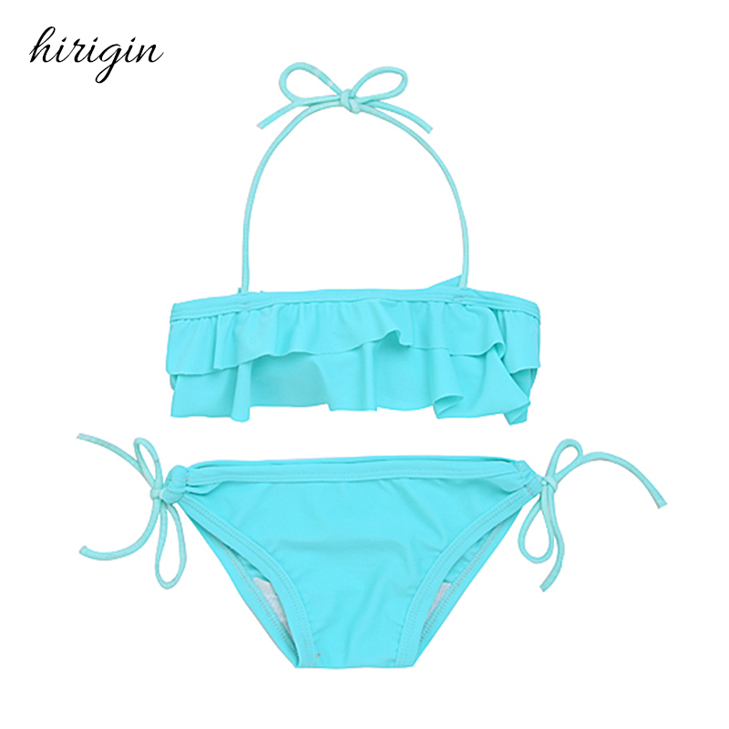 HIRIGIN Brand Spandex Kids Baby GirlsTankini Bikini Set Swimwear Swimsuit Bathing Suit Beachwear 2-7Y