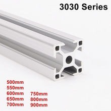 500mm to 900mm Industrial European Standard 3D Printer Frame Oxide Anodized Aluminum Extrusion Profile 3030 Series