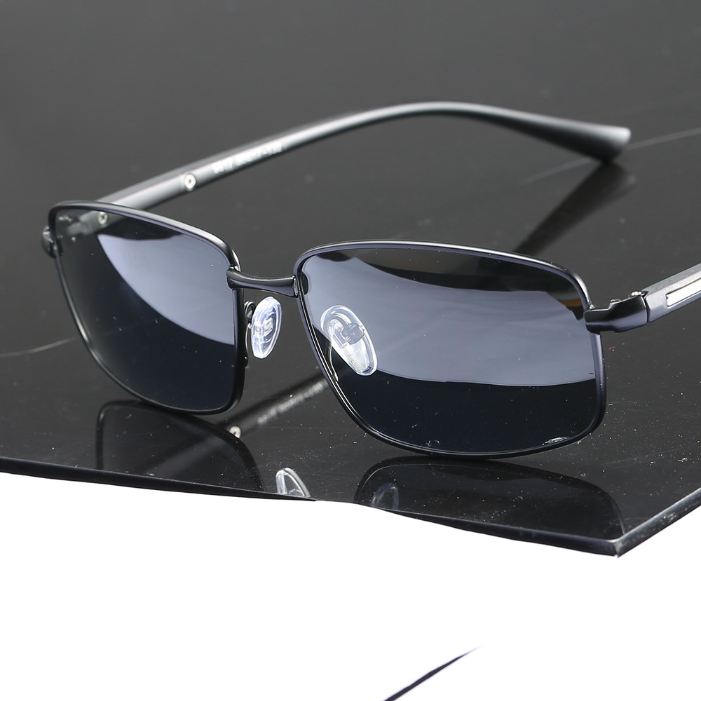 2019 Polarized Photochromic Grey Sunglasses Men Rectangle