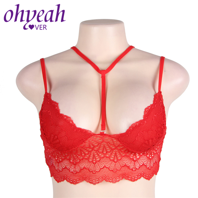 6169e9273ca65e Ohyeahlover Women Brassiere Lenceria Para Mujer Black Bra RM80545 Sex  Fashion Plus Size Pink Seductive Strappy Lace Bralette Top