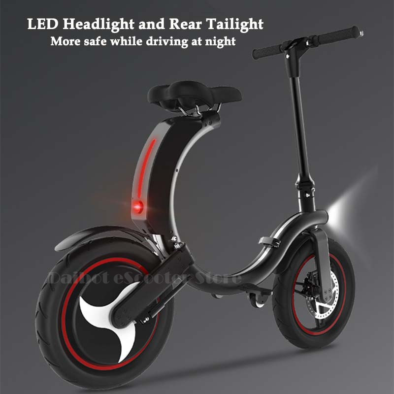 Daibot Mini Electric Bicycle Two Wheel Electric Bicycle 14 Inch 350W 36V 32KMH Foldable Portable Adults Electric Bicycle Bike (5)