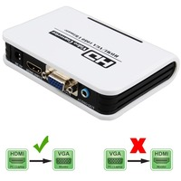 HDMI TO VGA Converter Box Hdmi To Vga Audio Adapter RCA 3 5mm Stereo Audio And