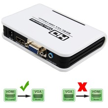 HDMI TO VGA Converter box hdmi to vga audio  adapter RCA 3.5mm Stereo Audio and SPDIF/Toslink  Audio output for PC HDTV