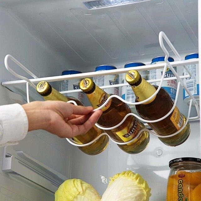 OTHERHOUSE estante de cocina para refrigerador, estante para botella de vino cerveza, organizador de cocina, nevera para almacenamiento, estantes organizadores