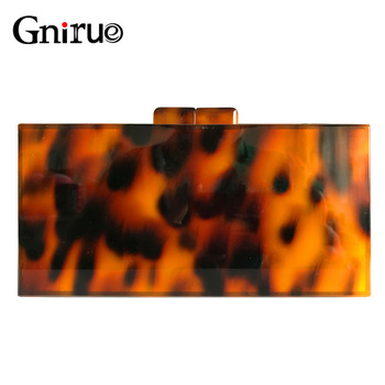 Leopard Pattern Acrylic Clutches Bag