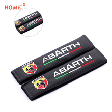 цена на Car Safety Seat Belts Padding Protective Shoulder Cover for Abarth Fiat 500 124 Spider 204A Punto Alfa Romeo Car Accessories