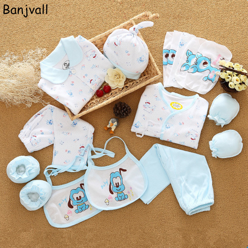 18 Pieces/set Newborn Baby Clothing Set Underwear Suits Infant Gift Set 100% Cotton Character Sets For Spring & Summer 2017 newborn clothing fashion cotton infant underwear baby boys girls suits set 17 pieces clothes for 0 3m clothing sets