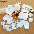 18 Pieces/set Newborn Baby Clothing Set Underwear Suits Infant Gift Set 100% Cotton Character Sets For Spring & Summer