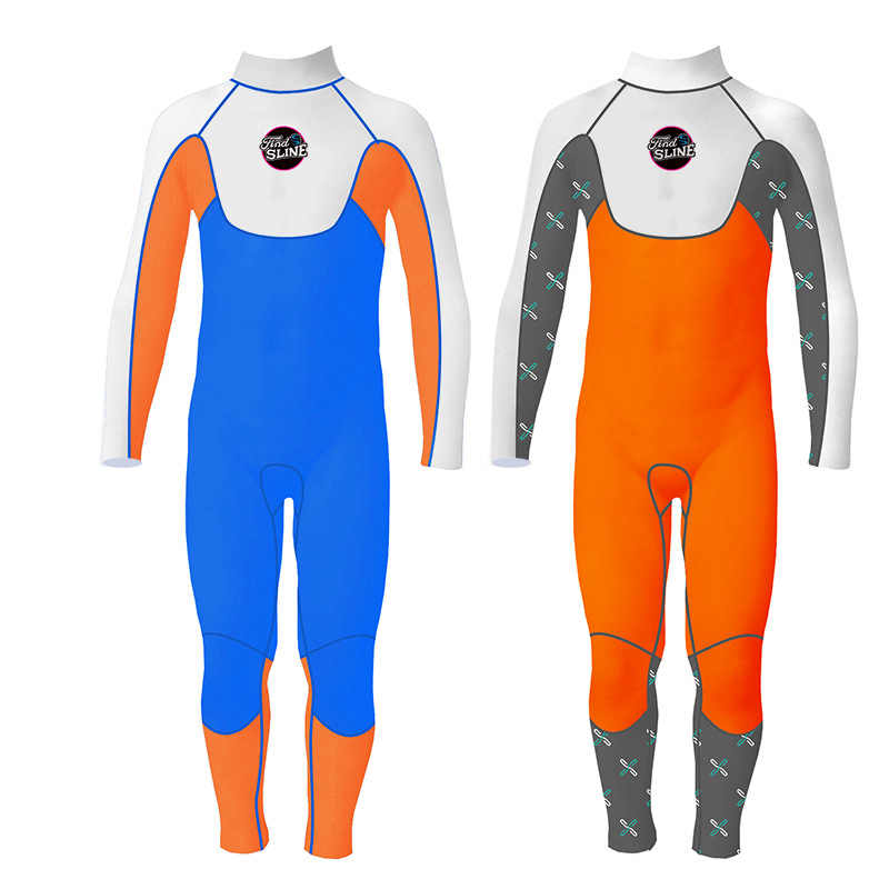 Slinx Lengan Panjang Anak Laki-laki 3 Mm Neoprene Rash Wetsuit Penuh Tubuh Musim Dingin Hangat Baju Renang untuk Anak-anak Berselancar kolam Olahraga Air