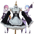 New Japanese Anime Re:Life In A Different World From Zero Rem/Ram Black And White Lovely Maid Dress Cosplay Costume Halloween