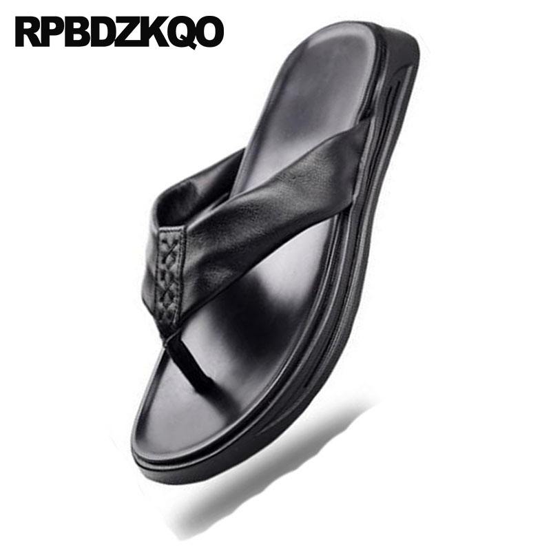 Zapatos Verano Chanclas Negro Ponerse Diapositivas Impermeable Agua Casual Sandalias Al Diseñador Libre Suave Cuero Hombre Moda Aire Zapatillas g0Bq8B