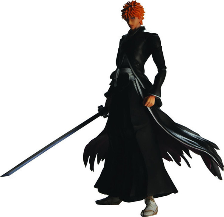 Japanese anime figure Kurosaki ichigo BLEACH action figure collectible model toys for boysJapanese anime figure Kurosaki ichigo BLEACH action figure collectible model toys for boys