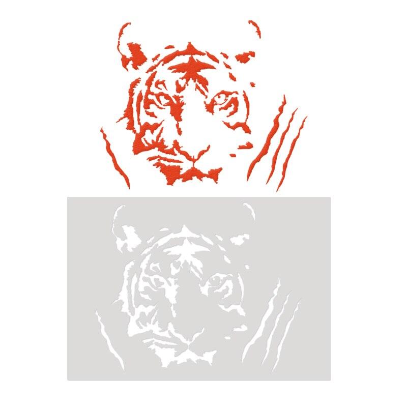 Animal Cake Stencil Mould Tiger Lin Kids Painting Scrapbook Template Stencils Diy Fondant Cake Decorating Tools