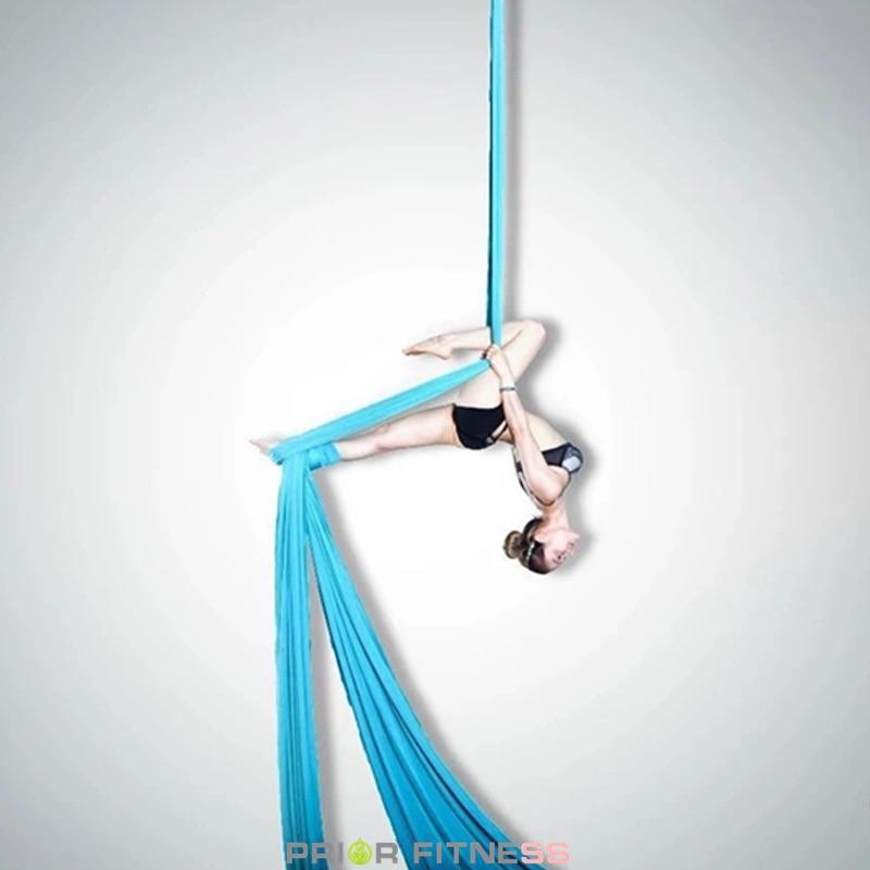 12 yardas/11 m yoga aérea seda tela para acrobático volando baile hamaca cambios yoga swing trapecio inversión volar aire terapia