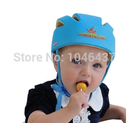 ФОТО Free shipping baby safety helmet for learning walking baby toddler caps infant protective hats soft comfatable