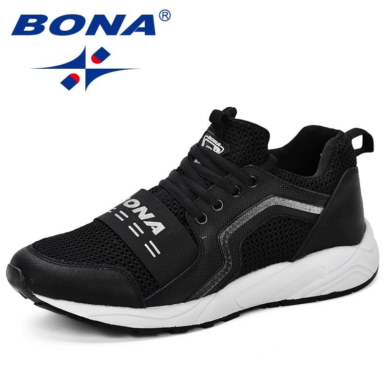 1468904a BONA/Новый дизайн; популярные Стильные мужские кроссовки для бега; Мужская  обувь; дышащие