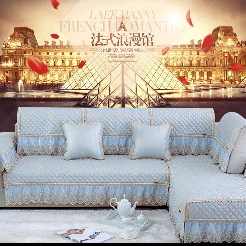 Aliexpress Com Buy High Quality Thick Flocked Modern: Sofa Cushion Cover Summer European High Grade Fabric Four