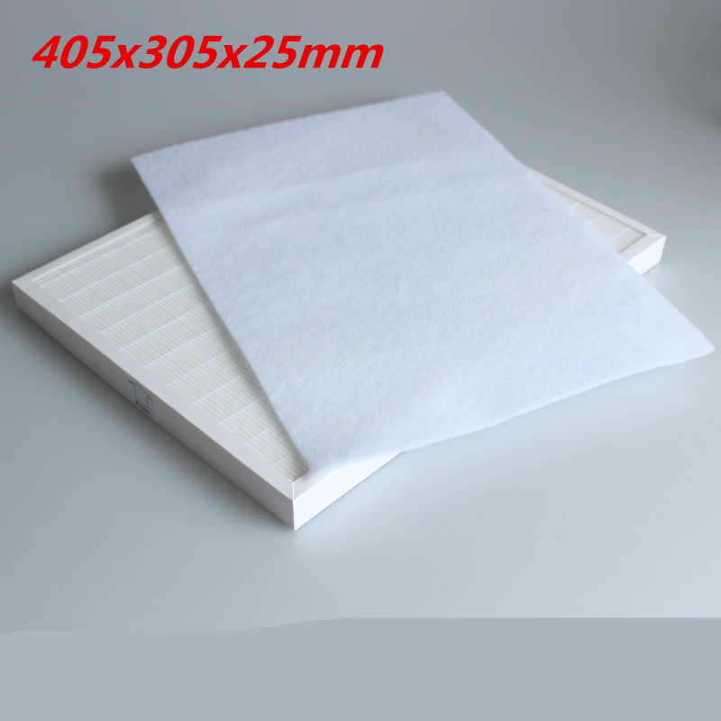 DIY pm2.5 air purifier parts air purifier hepa filter 405*305*25mm for HJZ2202 KJF2202T KJF2202TE KJF2203E KJF2103T KJF2105T