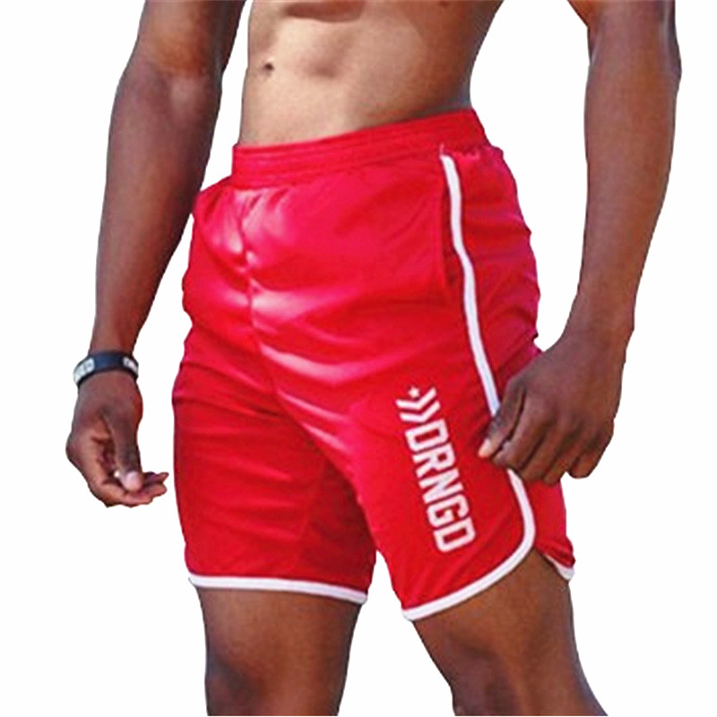 New Men Gyms Fitness Shorts Bodybuilding Jogging Workout Male Short Pants Casual Breathable Quick Drying Mesh Beach Sweatpants
