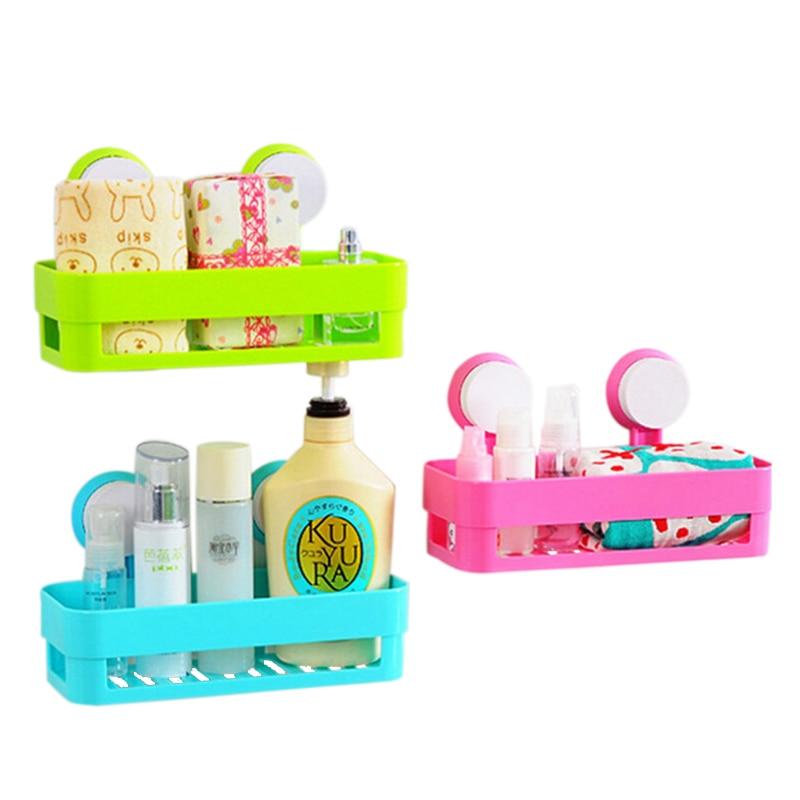 1 Szt Plastikowe Półki łazienkowe Przyssawka Kuchnia