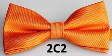 2016 Latest Style Bow Tie Male Marriage Shiny Striped Dark Orange Bow Tie Fashion Candy Color Butterfly Cravat Bowtie Butterflie