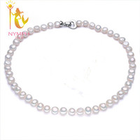 NYMPH Genuine Baroque Pearl Jewelry Trendy Necklace New Bijouterie Fine Jewelry Stone Beads Choker Necklace