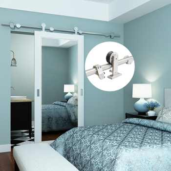 Top mount Stainless steel wood barn sliding door hardware - DISCOUNT ITEM  5% OFF All Category