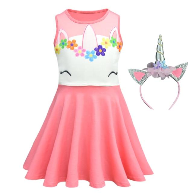 Chicas unicornio vestido de los niños, vestidos para chicas de fiesta de cumpleaños vestido de la Navidad del bebé la princesa unicornio traje ropa de niña