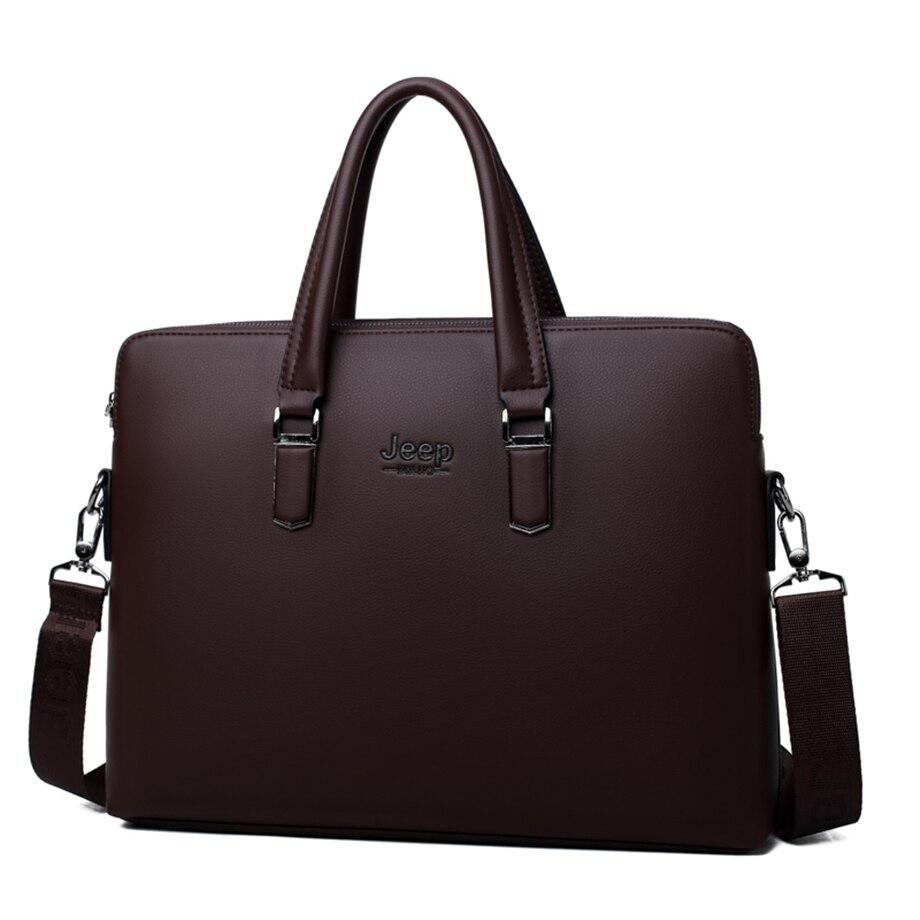 HTB13 wMev1H3KVjSZFHq6zKppXaO JEEP BULUO Men Leather Briefcase Bag Business Famous Brand Shoulder Messenger Bags Office Handbag 14 inch Laptop High Quality