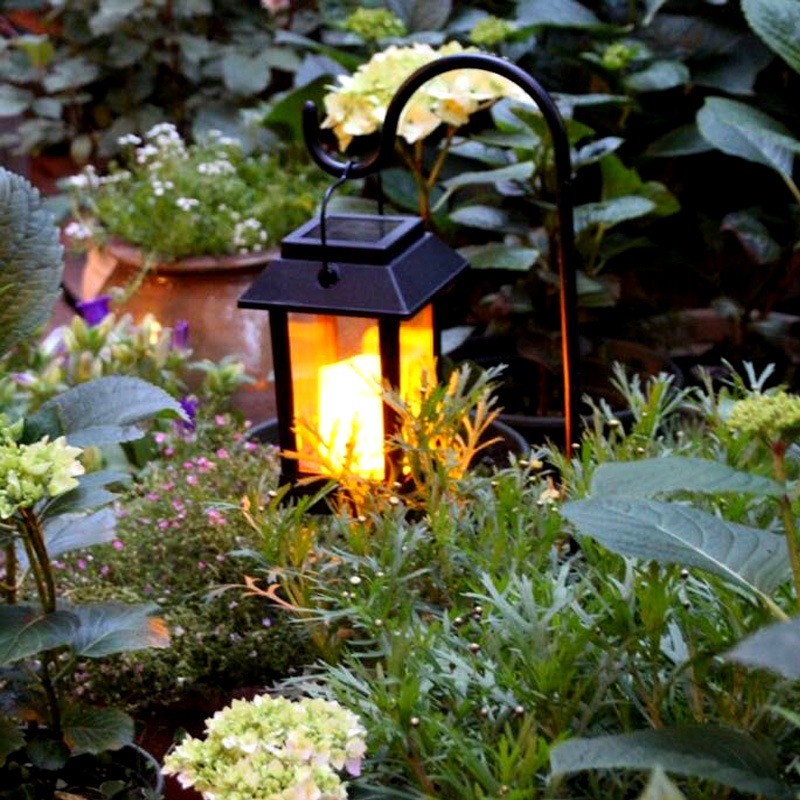 Outdoor Waterproof LED Solar Lantern Lights Vintage Candle Lanterns Solar Powered Ambience Landscape Light For Garden Patio solar powered courtyard candle light led solar powered wall lamp umbrella lantern candle lights outdoor home garden porch indoor
