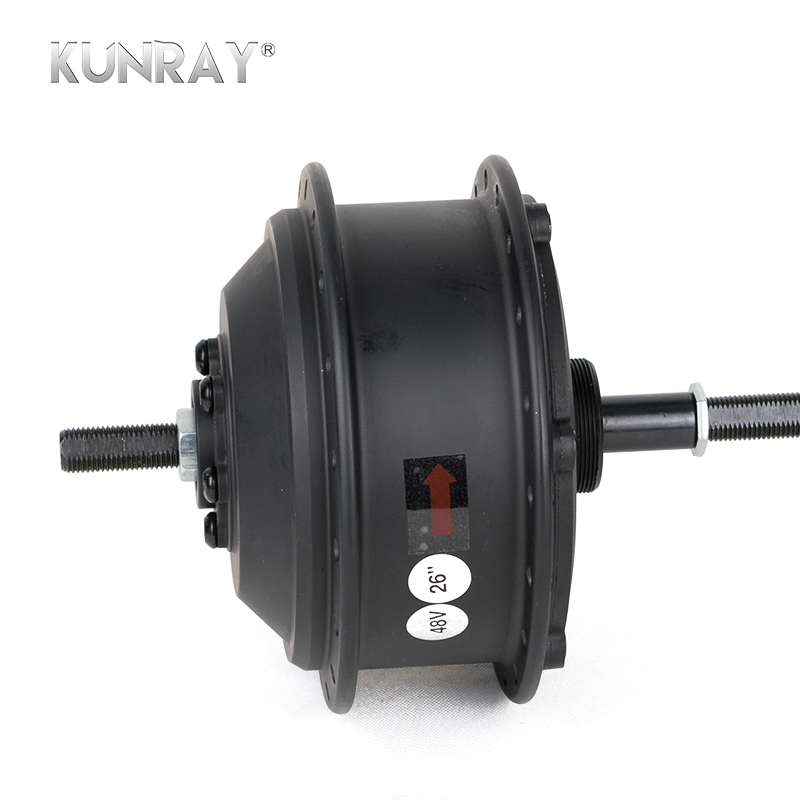 Discount 36V 48V 350W High Speed Brushless Gear Hub Motor E-bike Motor For 20inch - 28inch 700C Bicycle Rear Wheel Drive MXUS XF08 1