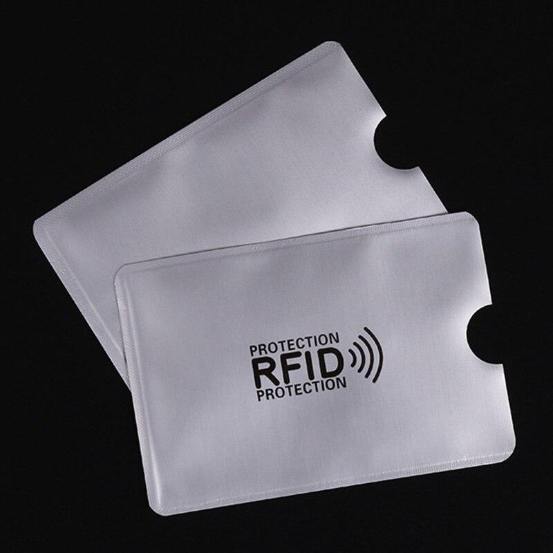5 шт. Анти Rfid Блокировка Reader замок банк держатель для карт ID банковской карты случае защитой Rfid металла кредитной держатель для карт Алюмини...