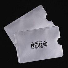 5 шт Анти RFID Блокировка Reader замок банк держатель для карт ID банковской карты случае защитой rfid металла кредитной держатель для карт Алюминий 2018