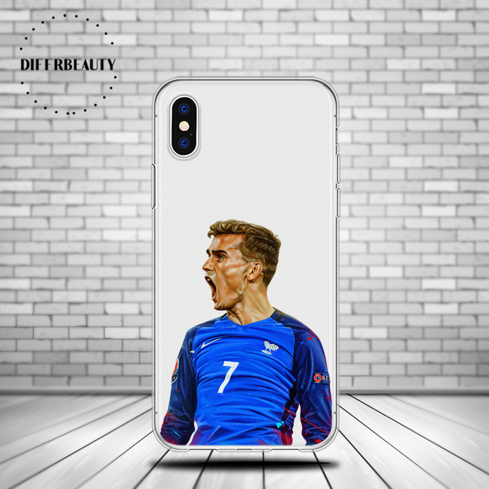 Football Soccer Star Antoine Griezmann DIFFRBEAUTY sports Phone Case for iPhone X 5s SE 6s 7 8 Plus Back Cover Soft TPU Case