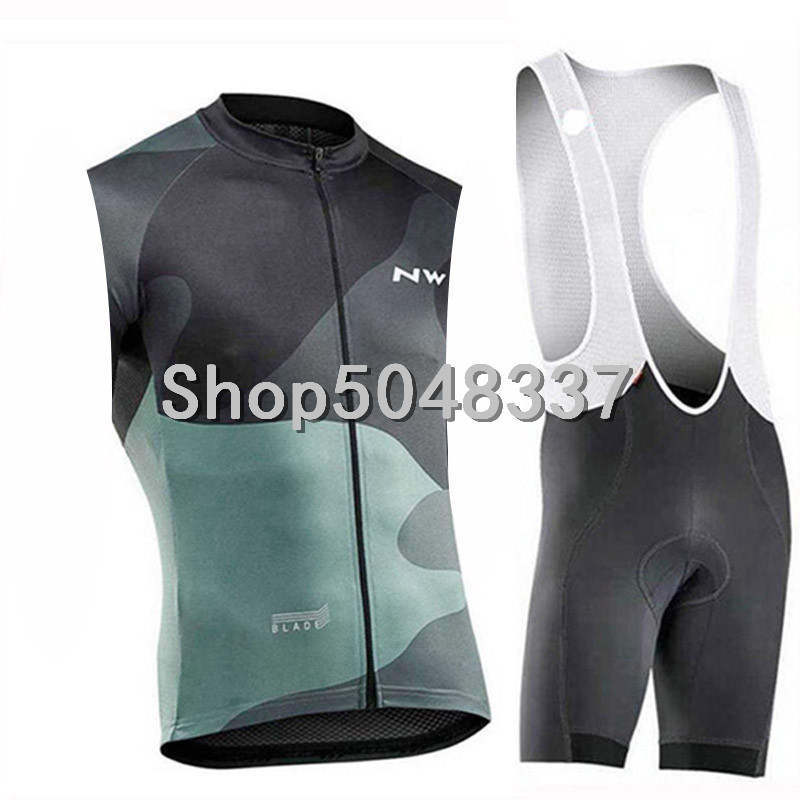 nw 2019 new Cycling sleeveless Jersey+Bib shorts outdoor Quick dry Breathable MTB Bike jersey Cycling Clothing|Cycling Sets| |  - title=
