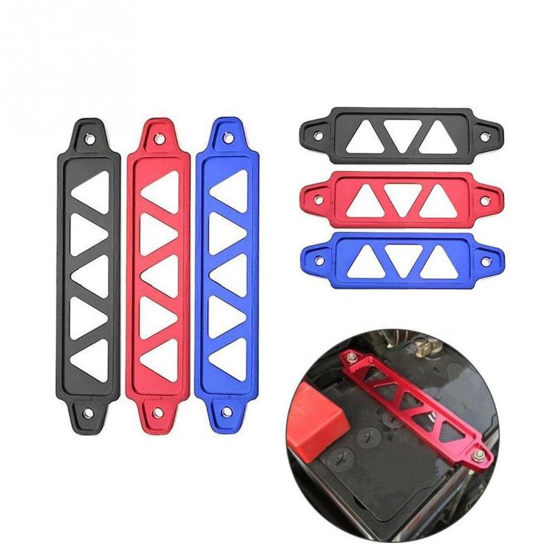 Araba akü bağlantısı Brace alüminyum alaşımlı montaj braketi tutucu Brace Bar modifikasyonu aksesuarı
