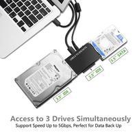 Универсальным преобразователем USB3.0 SATA/IDE/SATA 2.5in 3.5in внешний жесткий диск Box адаптер кабель 5 Гбит/с высокая скорость для портативных ПК Новый