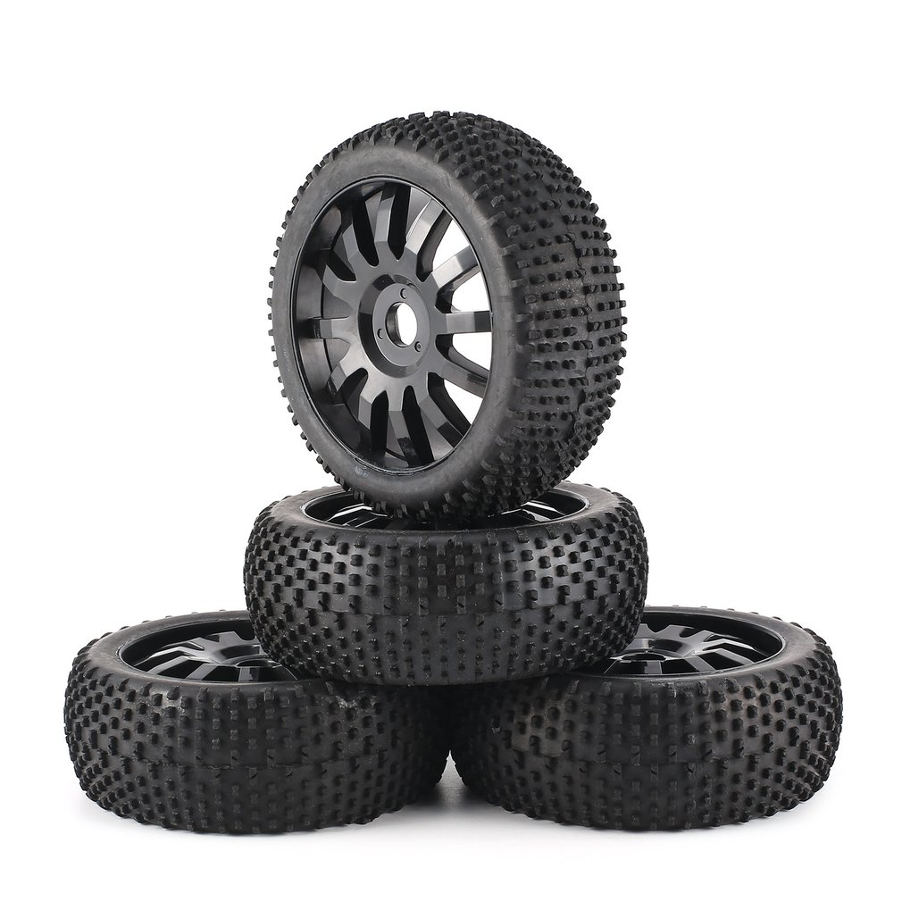 4PCS 102mm Wheel Hub Rim & Rubber Tires for HSP 1: 8 Off Road RC Car Buggy Tires Spare Parts Accessories Component HOT!