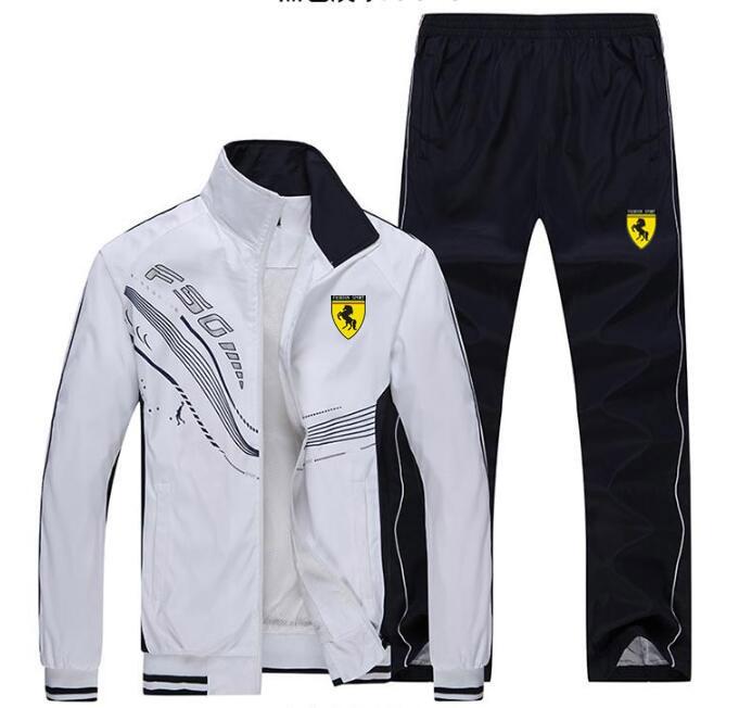 Hommes survêtement Sport mince veste manteau Top costume ensemble pantalon pantalons Sweats costumes Sportwear automne printemps sweat 6 couleurs - 3