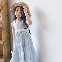 Everweekend Baby Girls Ruffles Candy Color Cotton Dress Lace Waist Cute Baby Fashion Summer Dresses