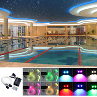Fiber Optic Star Ceiling Light Kits 2*4M * 200strands *(0.75+1+1.5+2mm) optical fiber Cable+32W RGBW LED Light Engine