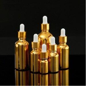 Image 2 - Flacons compte gouttes en verre doré, emballage pour huiles essentielles, sérum et cosmétique, 15 pièces, flacon compte gouttes pour pompe à Lotion, vaporisateur, flacon de 5, 20 ou 30ML