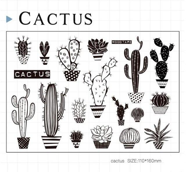 CACTUS Scrapbook DIY Photo Cards Account Rubber Stamp Clear Transparent 11x16cm CS1210