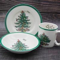 3 Pcs/set Children Dinner Set Christmas tree Dinnerware Set Food Tableware Dinner Set Christmas Gift Drop shipping