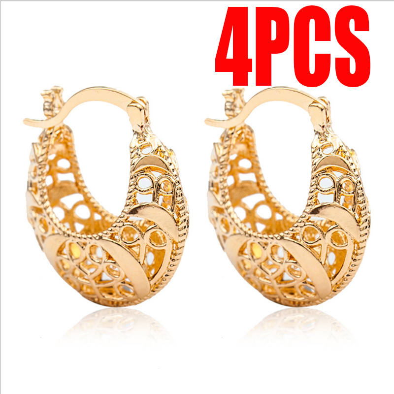 Amicable 2pair Creative Popular Hollow Woven Charm Pretty Earrings Trendy Special U Shape Ornaments All-match Unique Elegant A Wide Selection Of Colours And Designs